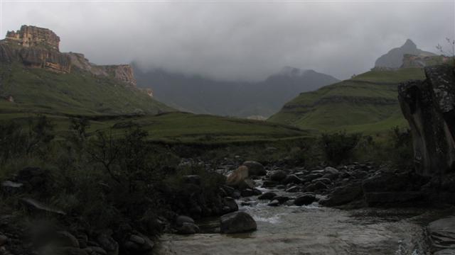 Southern Drakensberg area (Rhino Peak in top right hand corner)