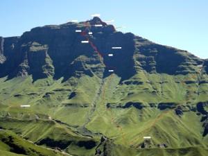 Rhino S Route and Eastern Ridge TOPO